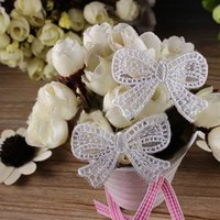 Wholesale 10pcs Embroideries Bowknot Lace Applique Mesh Trim Sewing On Wedding Dress Garment Accessories DIY Bags Decoration YR0003 Kevinstyle