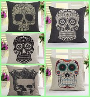 sofa set - Skull cushion cover Set pillow cover home decoration couch sofa Car office Cushion Cover Halloween Festival