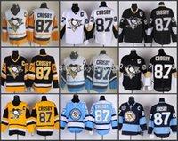 best nhl jerseys - Factory Outlet Sidney Crosby Pittsburgh Penguins Hockey Jerseys White Black Navy Blue Orange Jerseys Best quality Stitched NHL Jersey