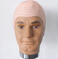 bald caps - LJJD3861 Rubber Bald Headgear Masks Party Performance Makeup caps Monk Nuns Show Latex Headgear strong props masquerade supplies