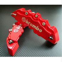 caliper disc brake - 4pcs D Red Brembo Style Universal Disc Brake Caliper Cover Front Rear car Brake Systems from memorygeek store