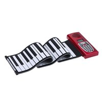 Wholesale Portable Standard Keys MIDI Roll Up Piano Silicone Rubber Soft Keyboard Piano with LCD Display High Quality order lt no track