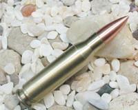 Wholesale novelty lighter Copper alloy bullet design butane gas lighter cigarette refillable flame lighter