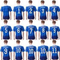 LC05 orden mezclada Tailandia 2015 EE.UU. fútbol ausente de los jerseys Lloyd BEASLEY DEMPSEY DONOVAN Beckerman JOHNSON azul Jersey