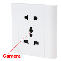 Wholesale White Voice activated Security Electrical Outlet Hidden Camera Support TF Card