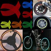 Wholesale 16 Strips DIY Reflective Rim Stripe Tape Bike Motorcycle Car Wheel Sticker