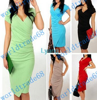 america ad - Europe ad America Fashion OL Women Ladies Office Dress Clothes Knee length Bodycon Slim Pencil Party Dress