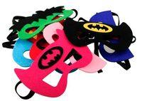 batman costume prop - Superhero mask Cosplay Superman Batman Spiderman Hulk Thor IronMan Captain America Princess Halloween kids adult Party Costumes Masks props