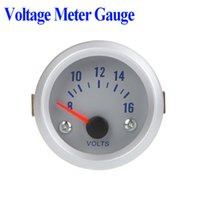 Wholesale 2015 Special Offer New Digital Voltmeter Ammeter Voltage Meter Gauge Voltmeter for Auto Car quot mm v Orange Light