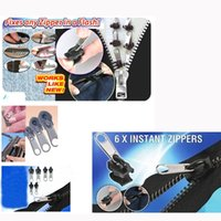 Wholesale 6pcs pack Multifunctional Fix A Zipper Repair Sliders Rescue kit No Tools Required Household Garment Accessories H13398