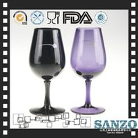 beer goblet new - Whiskey Glass Wine Glass New Arrival Real Wine Glass Beer Whiskey Tazas color Fine Pigment Red Dripping Decal Color Goblet