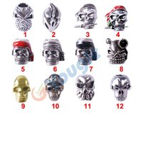 Wholesale 10 Charm Metal Skulls Beads For DIY Paracord Bracelets Knife Flashlight Lanyards Pendant Accessories