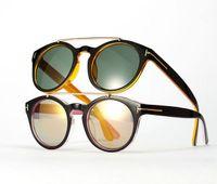 pink sunglasses - Men s Vintage Funky Colorful Vertigo Reflective Glasses Ladies Fashion Sunglasses European Women Leopard Pink Black Yellow White M2793