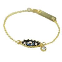 Wholesale 2015 New Fashion Design Pulseiras Braceletes Colorful Rhinestone Eye Bracelets For Women Pulseras Mujer