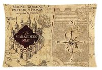 Wholesale HARRY POTTER The Marauder s Map Cool Pattern Custom Pillowcase Cover Two Side Picture Size x30 Inch