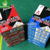 Wholesale Wide format small print New blue and red cover Scrub plastic playing cards poker game card hot selling x mm