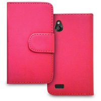 Wholesale CHEAP CHINA MANUFACTURER MOBILE CELL PHONE ACCESSORIES CARD SLOT STAND PLAIN FLIP WALLET CASE FOR HTC DESIRE X