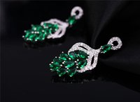batch offering - 2015 New Arrival Special Offer Stud Women s Silver Plate fill High grade Zircon Earrings Exaggerated Long Section Retro Color Mixed Batch