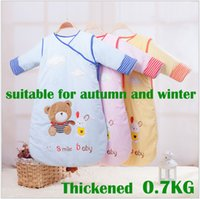Wholesale Baby sleeping bags children s sleeping bags new style suitable for autumn and winter thickened cotton