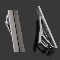 men's tie clips - Men Tie Clip Tieclip Chrome Stainless Steel Standard Clasp Bars Pins Simple
