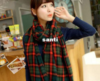 Wholesale Multi color Lady Women Winter Large Blanket Oversized Shawl Plaid Check Tartan Scarf Wrap