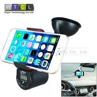 speaker for mobile phone - 360 Degree Rotation Mobile Phone Holders for Samsung iPhone G SONY HUAWEI Car Mount Cellphone Holders with Speakers MT0026