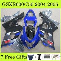 Wholesale 7 Gifts Black Blue Color Cool Motorbike Fairing Kit Cowling Set GSXR750 GSXR600 GSXR GSXR K4 Corona For Suzuki AB