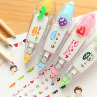 Wholesale 1X Creative Stationery Push Correction Tape Lace for Key Tag Sign Children Gift