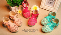 Wholesale 2015 Summer Girls Lace Sandals Shoes Fashion Kids Girl Princess Lace Gauze Party Sandals Baby Girls Bow Princess Sandals Shoes