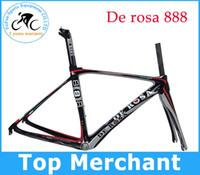 bike frame - Full carbon road bike de rosa frame frameset seatpost fork clamp headset glossy finish cm BB30 BB86 available