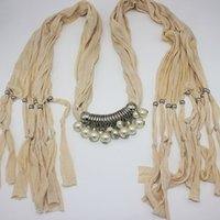 jewelled scarves - imitation pearl jewelled pendant necklace beads belts alloy imitation pearl jewelry girls scarf women original factory supply