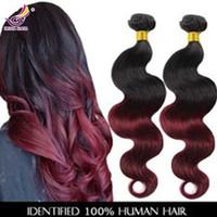 russian hair - Malaysian Virgin Hair Body Wave Natural Black B Burgundy Unprocessed Remy Human Hair Weaves Cheap Indian Virgin Hair Extensions