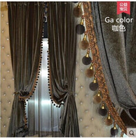 Wholesale Fashion curtain modern dodechedron solid color quality grey drapes velvet classic Curtain antependium feel comfortable Exempt postage