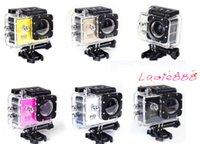 Wholesale 2015 NEW Sports Gopro HD Action Camera Diving M quot Meter Waterproof Cameras P Full HD SJcam Helmet Underwater Sport DV Car DVR A9