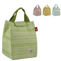 Wholesale Oxford fabric stripe lunch bag picnic bags insulation bag lunch box cooler bags ice boxes OD8
