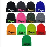 Wholesale Fashion Autumn Winter Men Women Hats Hiphop Knitting Hats DOPE D embroider Beanie Skull caps can mixed color