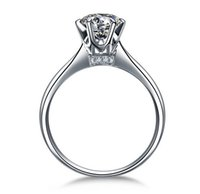 accent mix - Hearts and Arrows prong setting Ct NSCD Simulated Diamond Engagement Wedding rings for women Solitaire Ring with accents