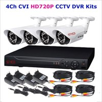 Wholesale Newest HD720P CVI DVR KIT with CVI DVR HD720P and Megapixel Outdoor IR Camera with M IR Night Vision distance HDCVI CCTV System