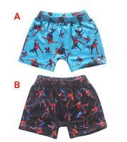 Cheap 2 Color Boys Avengers spiderman swimming trunks Cartoon kids boy beach wear elastic children swim short pants spider man pants B001