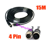 Wholesale Waterproof m ft Pin Video Extension Cable for Car Rear View Reverse Camera Long Bus Truck
