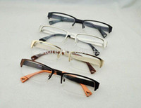 Wholesale Metal Men Rectangle Spectacle Glasses Frame Half rim Optical Eyeglasses