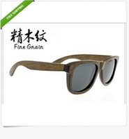 Wholesale Wooden handmade uv protection sunglasses men Add the bridge of the nose is too glasses