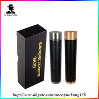 Cheap New electronic cigarette mods paragon mechanical 18650 mod copper and carbon fiber body Aqua kayfun taifun stillare enigma atomizer 0207094