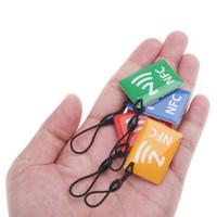 Wholesale 4pcs Smart NFC Tags for Samsung Galaxy S5 S4 Note III Nokia Lumia Sony Xperia Nexus Nexus Ntag203 Card
