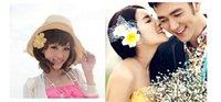 Cheap hawaiian plumeria flower bridal hair clips women girls beach hair accessory floral hair accessories for weddings frangipani hair flower