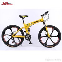 Wholesale Folding bicycle bicicleta inch speed xirui aluminum alloy mountain bicycle fixed gear mountainbike fat bike unisex biycles