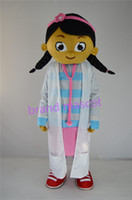 Wholesale The most popular Christmas Halloween Doc McStuffins cartoon costumes for Halloween party supplies adult size mascot
