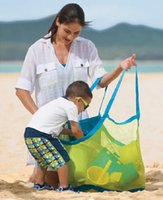 amazing baby clothes - FreeShipping Amazing Sand Away Carry Beach Mesh Bag for Children Swim Beach Toys Clothes Towel Bag Baby Toy Collection