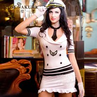 Cheap Wholesale-2015 new fashion women's sexy navy costumes with all accessories underwear erotic apparel dress for female fantasy lingeries