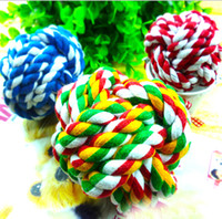Wholesale Hot Pet Puppy Rope Fashion Dogs Cottons Chews Toy Ball Play Braided Bone Knot Drop Shipping CW001